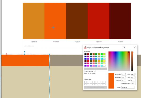 színválasztás